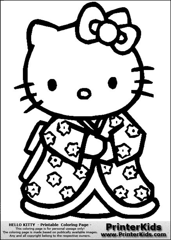 punk hello kitty coloring pages - photo#18